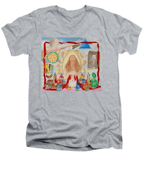 Invocation Of The Spectrum Men's V-Neck T-Shirt by Rich Milo