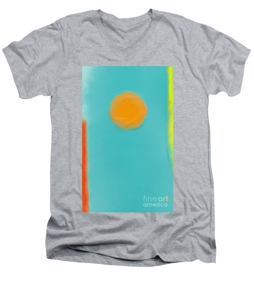 Lily Pond Men's V-Neck T-Shirt by Anita Lewis
