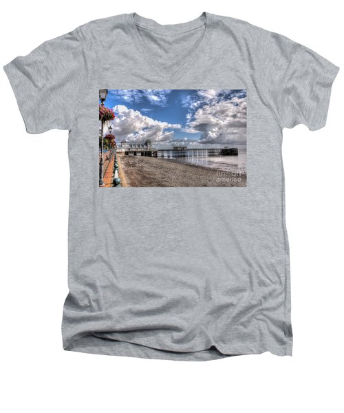 Penarth Pier 3 Men's V-Neck T-Shirt