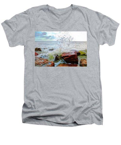 Quintana Jetty Men's V-Neck T-Shirt by Savannah Gibbs
