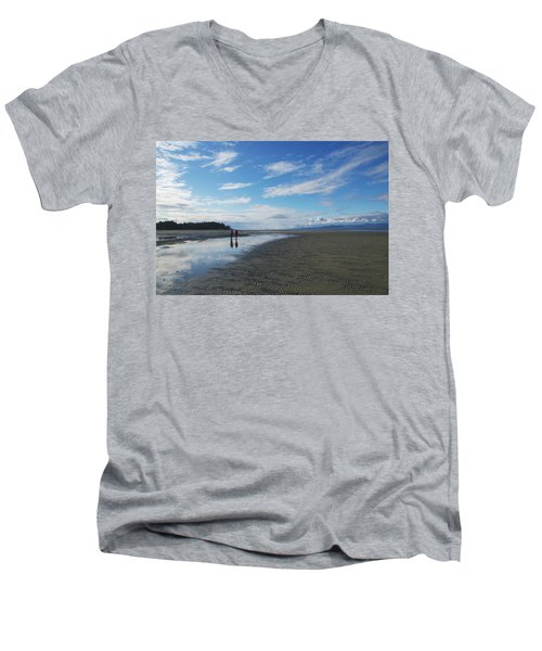 Evening Reflections  Men's V-Neck T-Shirt by Marilyn Wilson