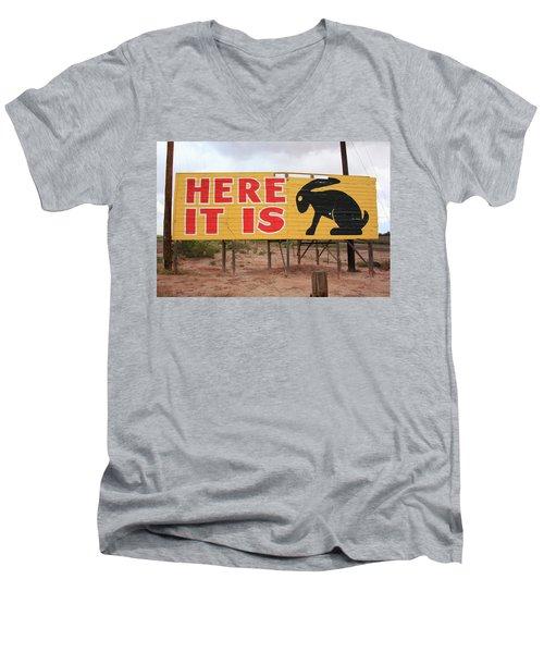 Route 66 - Jack Rabbit Trading Post Men's V-Neck T-Shirt