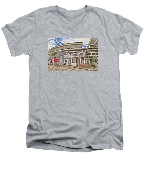 In The Shadow Of The Stadium - Hdr Men's V-Neck T-Shirt