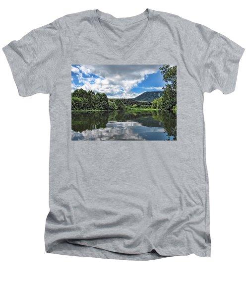 South Fork Shenandoah River Men's V-Neck T-Shirt by Lara Ellis