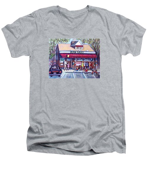 We All Scream For Ice Cream Men's V-Neck T-Shirt by Rita Brown