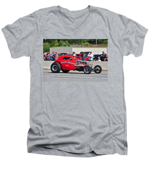 330 Nationals Men's V-Neck T-Shirt by Mike Martin
