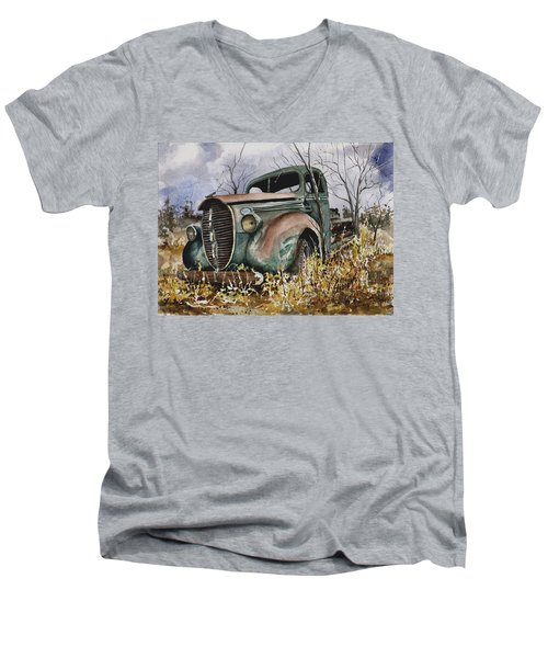 39 Ford Truck Men's V-Neck T-Shirt by Sam Sidders