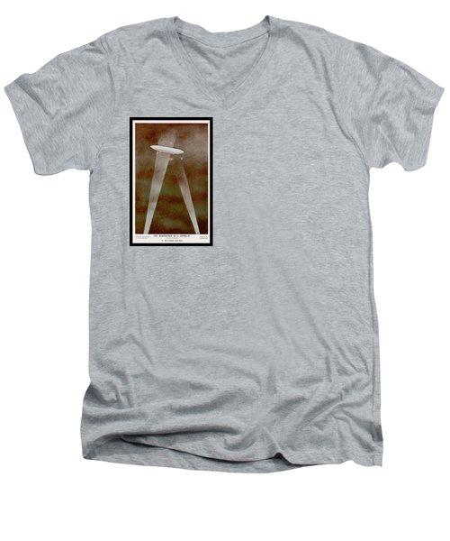 American Beaver Swimming Men's V-Neck T-Shirt by Yva Momatiuk John Eastcott