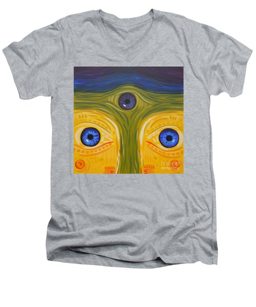 3eyes2c Men's V-Neck T-Shirt