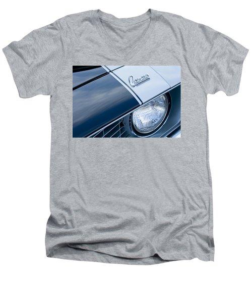 1969 Chevrolet Camaro Z-28 Emblem Men's V-Neck T-Shirt by Jill Reger