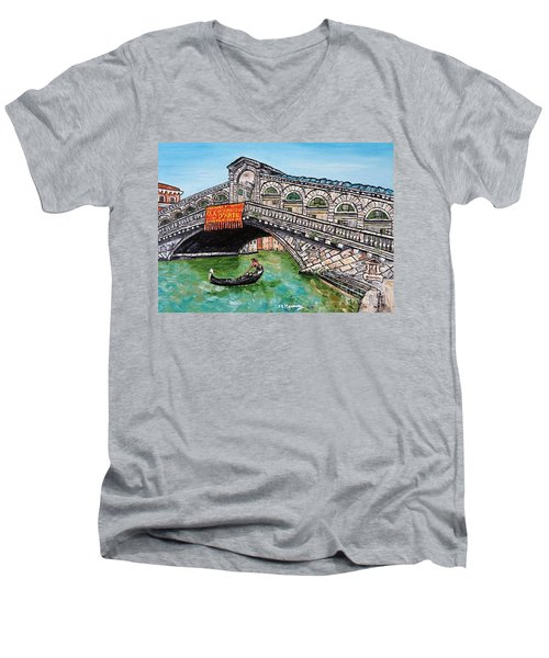 Ponte Di Rialto Men's V-Neck T-Shirt by Loredana Messina