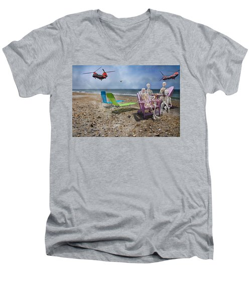 Search Party Men's V-Neck T-Shirt by Betsy Knapp