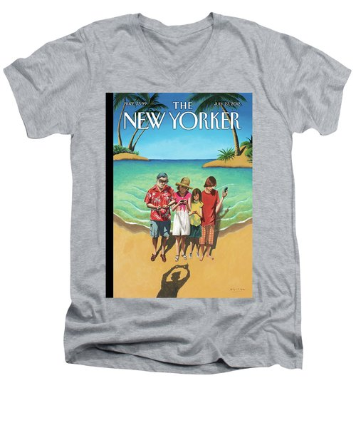 New Yorker July 23rd, 2012 Men's V-Neck T-Shirt