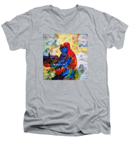 Sold Men's V-Neck T-Shirt by Sanjay Punekar
