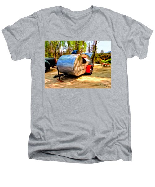 47 Teardrop Men's V-Neck T-Shirt by Michael Pickett