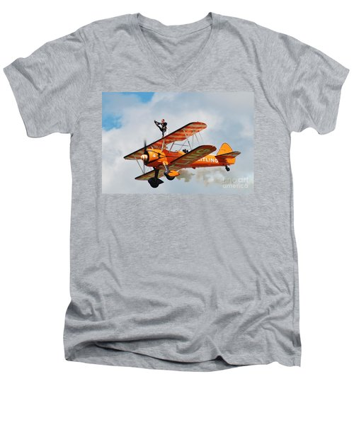 Breitling Wingwalkers Team Men's V-Neck T-Shirt