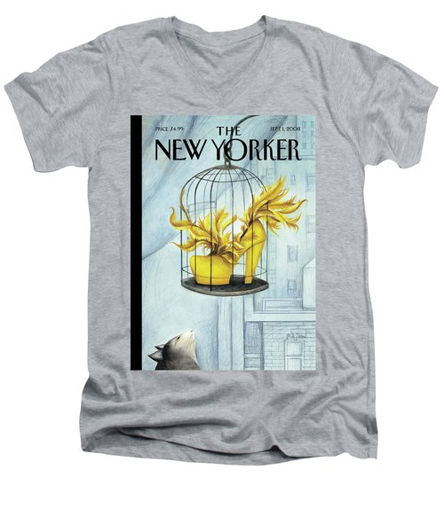 New Yorker September 1st, 2008 Men's V-Neck T-Shirt