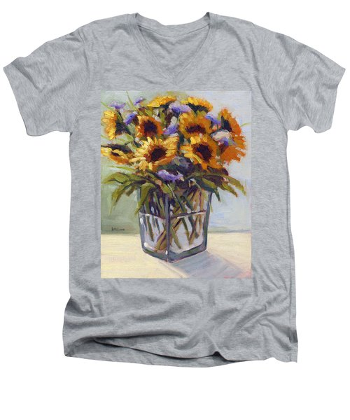 Summer Bouquet 4 Men's V-Neck T-Shirt