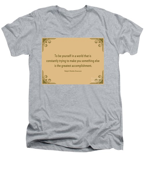 58- Ralph Waldo Emerson Men's V-Neck T-Shirt