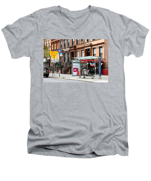 5th Ave And West 132nd Street Men's V-Neck T-Shirt