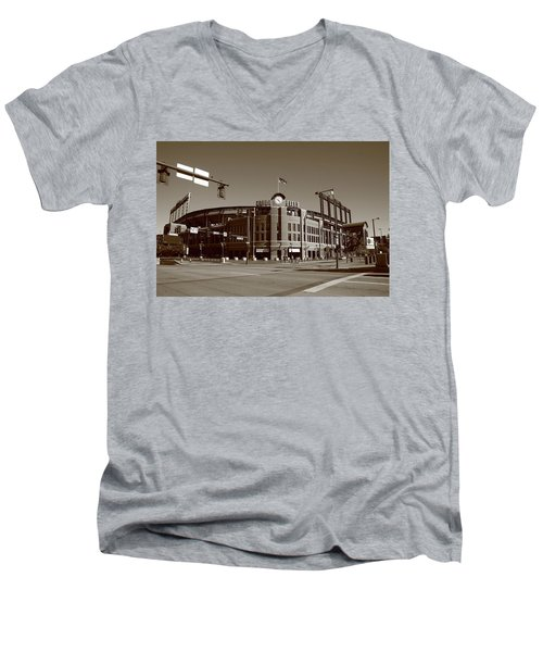 Coors Field - Colorado Rockies Men's V-Neck T-Shirt by Frank Romeo