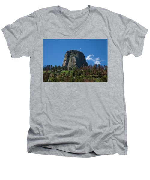 Devil's Tower Men's V-Neck T-Shirt