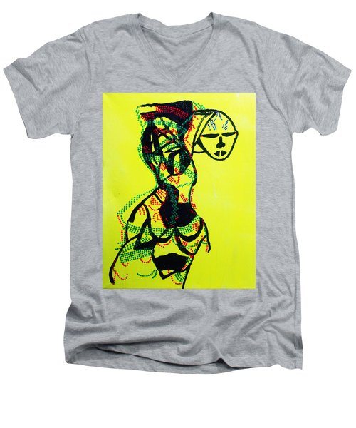 Dinka Lady - South Sudan Men's V-Neck T-Shirt