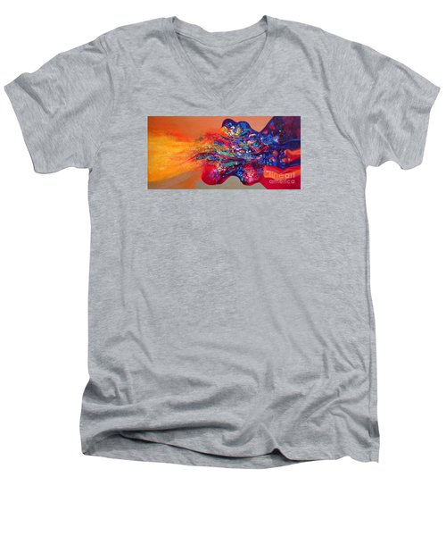Morning Glory Sold Out Men's V-Neck T-Shirt by Sanjay Punekar