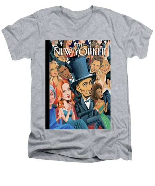 New Yorker February 25th, 2013 Men's V-Neck T-Shirt