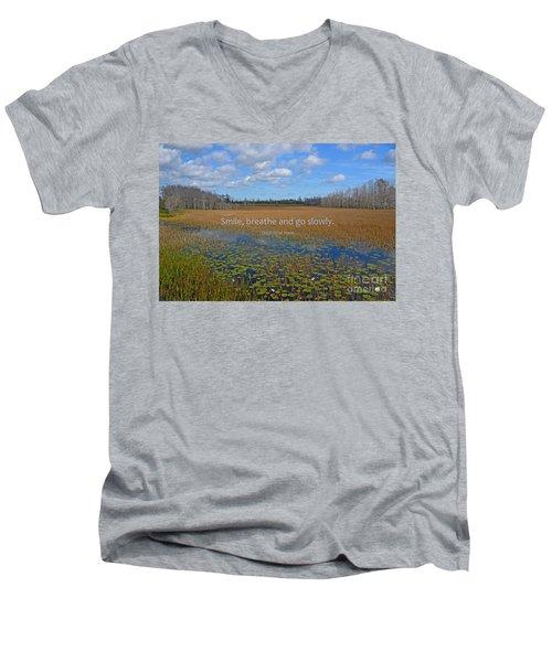 69- Thich Nhat Hanh Men's V-Neck T-Shirt by Joseph Keane