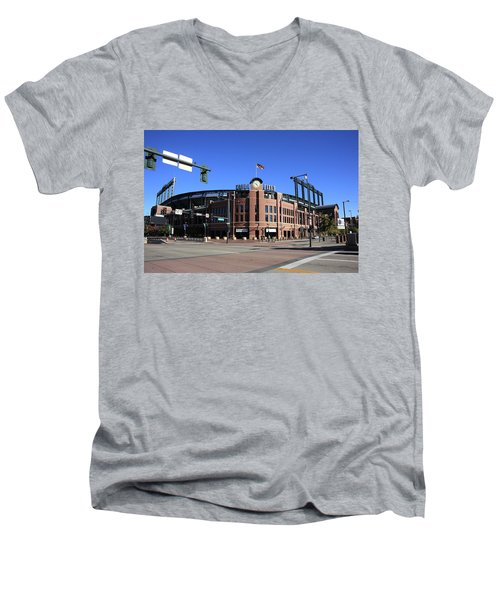 Coors Field - Colorado Rockies Men's V-Neck T-Shirt
