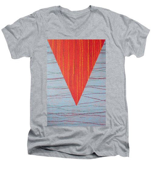 Men's V-Neck T-Shirt featuring the painting Untitled by Kyung Hee Hogg