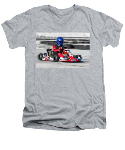 Racing Go Kart Men's V-Neck T-Shirt