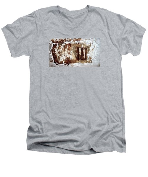 Men's V-Neck T-Shirt featuring the photograph Anton Chekhov's Seagull by Danica Radman