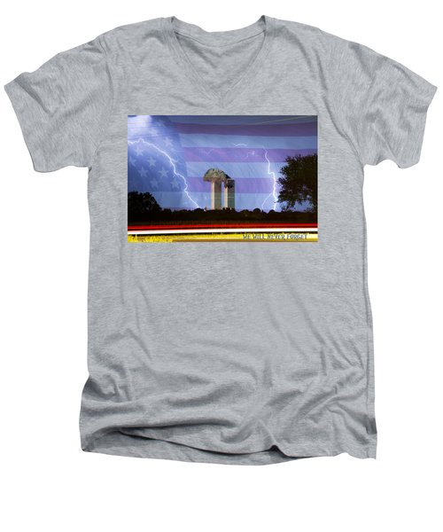 9-11 We Will Never Forget 2011 Poster Men's V-Neck T-Shirt