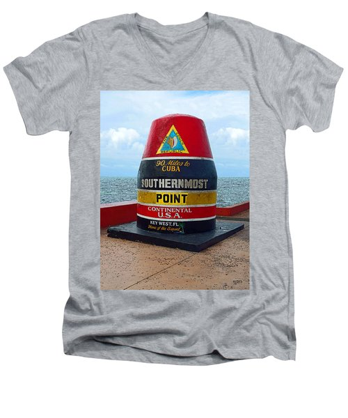 Southernmost Point Key West - 90 Miles To Cuba Men's V-Neck T-Shirt