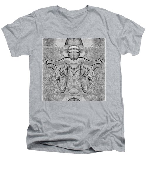 989 - Giant Creature Fractal ... Men's V-Neck T-Shirt