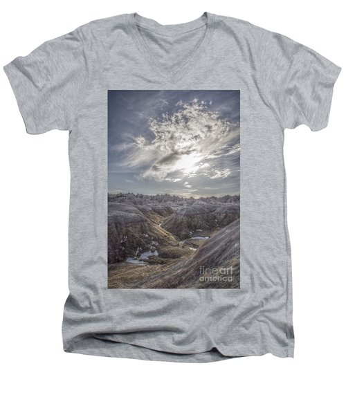 A Badlands Afternoon Men's V-Neck T-Shirt