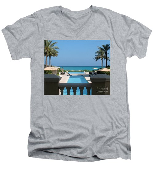 Men's V-Neck T-Shirt featuring the photograph A Beautiful View by Patti Whitten