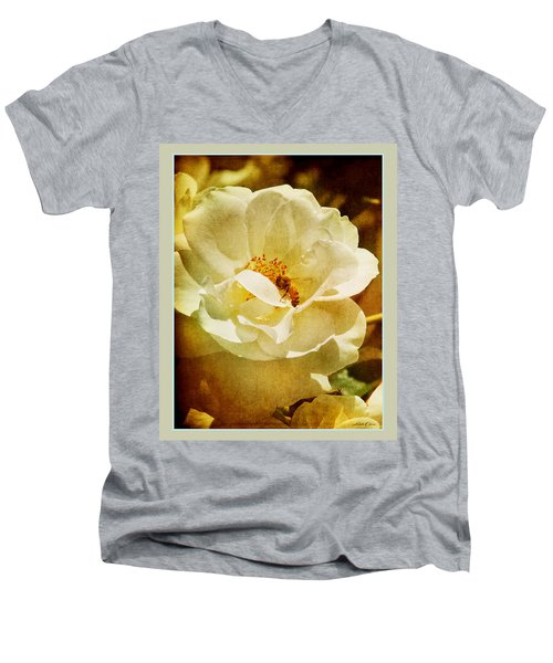 A Bee And Rose Men's V-Neck T-Shirt