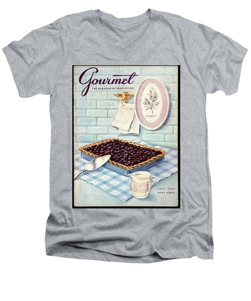 A Blueberry Tart Men's V-Neck T-Shirt