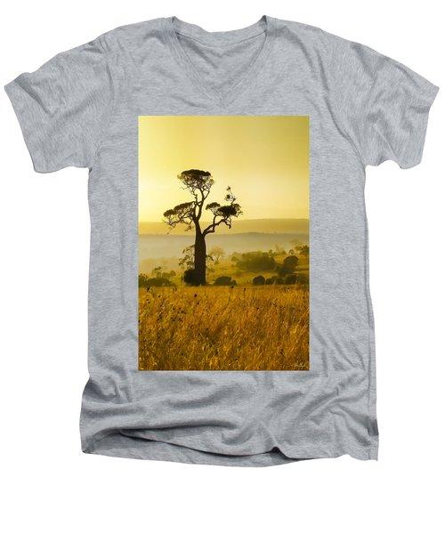 A Boab Sunrise Men's V-Neck T-Shirt by Holly Kempe