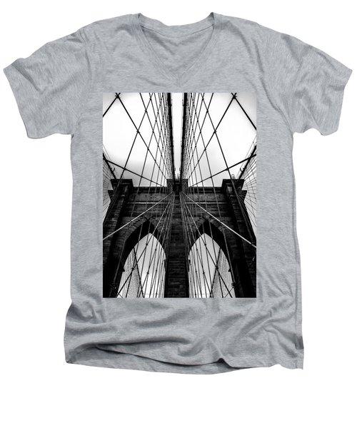 A Brooklyn Perspective Men's V-Neck T-Shirt by Az Jackson
