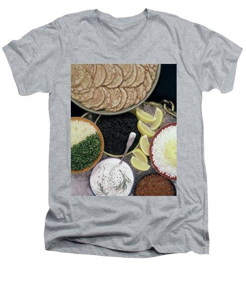 A Buffet With Blinis Men's V-Neck T-Shirt