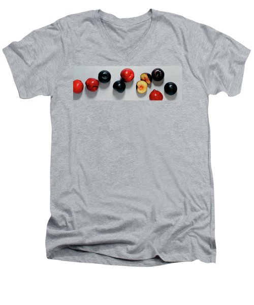 A Bunch Of Plums Men's V-Neck T-Shirt