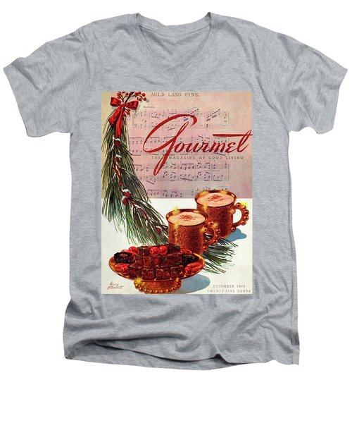 A Christmas Gourmet Cover Men's V-Neck T-Shirt
