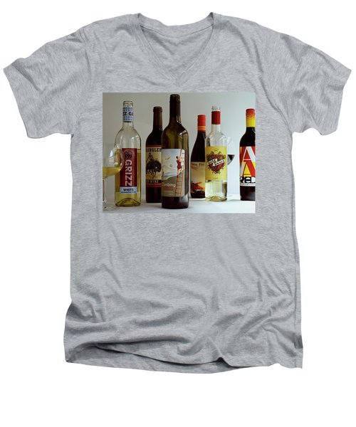 A Collection Of Wine Bottles Men's V-Neck T-Shirt