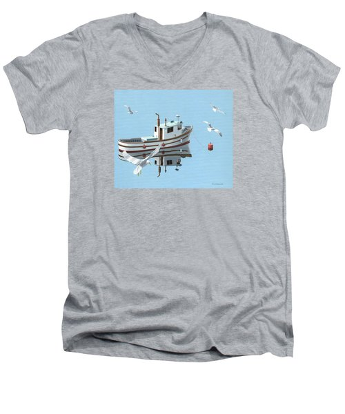 A Contemplation Of Seagulls Men's V-Neck T-Shirt