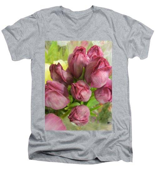 A Cool Bouquet  Men's V-Neck T-Shirt