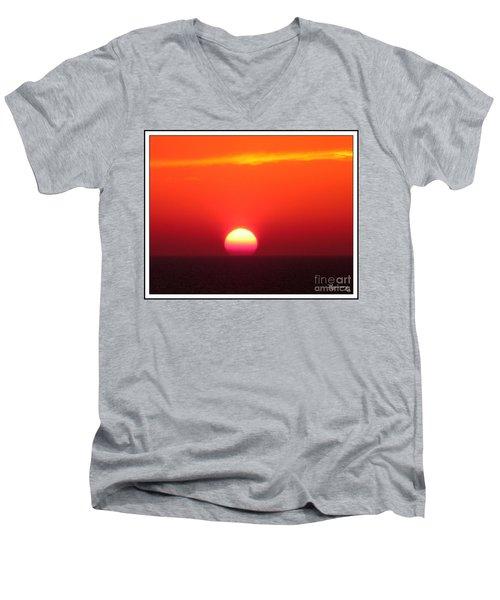 A Cooling Dive Men's V-Neck T-Shirt by Mariarosa Rockefeller
